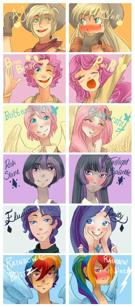 mlp rule pony 63 deviantart fluttershy productions zoe human gender pie pinkie genderbend dash rainbow mane anime magic twilight male