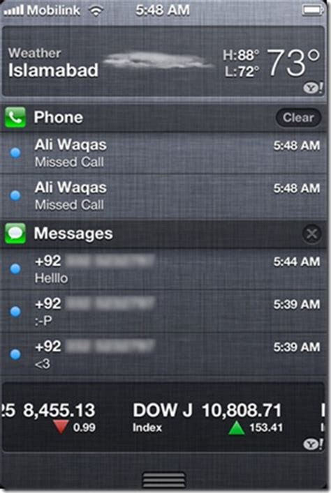 notification center iphone new notification center of ios 5 overview