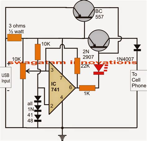 Usb Ion Battery Charger Circuit Auto Cut Off Current