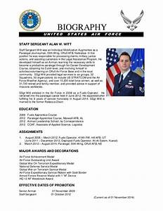 witt military bio With air force bio template