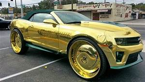 All Gold Everything King Camaro ZL1 On 3239s Big Rims