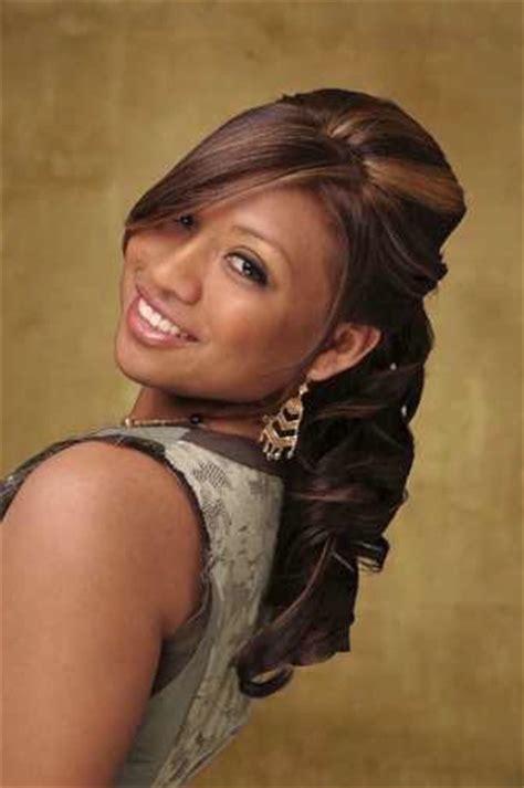 Black Half Up Half Hairstyles by American Wedding Hairstyles Hairdos