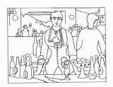 Manet Bar Bergere Arte Obras Edouard Flies Guardado Desde Uploaded sketch template