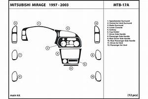 2001 Mitsubishi Mirage Dash Kits