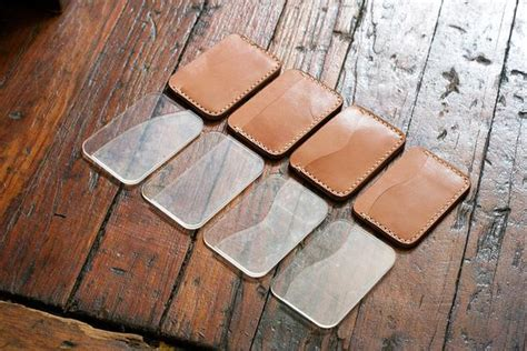 leather card holder  pocket acrylic template makesupply