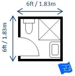 powder room floor bathroom dimensions