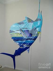 Sailfish Art On Sailfish Painting by Carey Chen