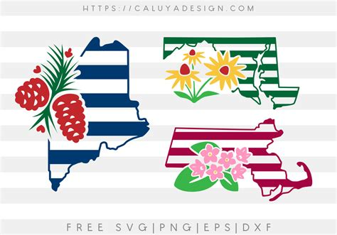 All contents are released under creative commons cc0. Free Maine, Maryland and Massachusetts State SVG, PNG, EPS ...