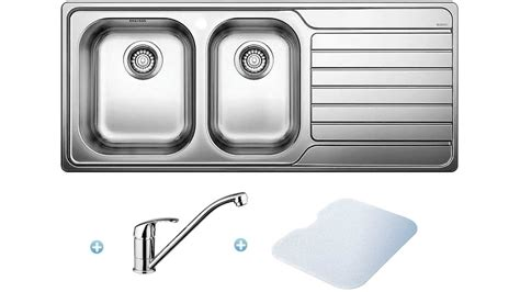 3 bowl kitchen sinks buy blanco 1 and 3 4 bowl sink pack left bowl 3853