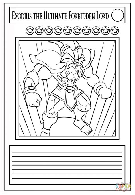 yu gi  card coloring page  printable coloring pages