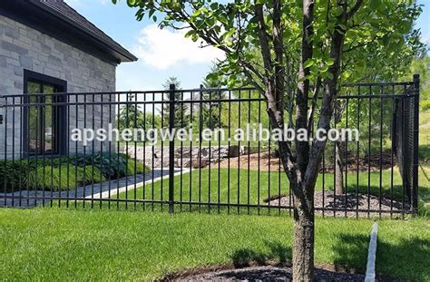 wrought iron fence price cheap price black powder coated backyard metal fence for gardens view metal fencing prices jsw