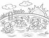 Swimming Coloring Pool Printable Sheets Drawing Basenie Dzieci Colouring Books Pools Cool Museprintables Colorin Drawings Easy Paw Patrol Ausmalbilder Sommer sketch template