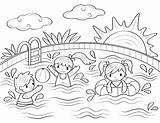 Swimming Coloring Pool Printable Sheets Drawing Basenie Dzieci Museprintables Colouring Ausmalbilder Pools Sommer Drawings Colorin Estate Colorir Desenhos Paw Patrol sketch template