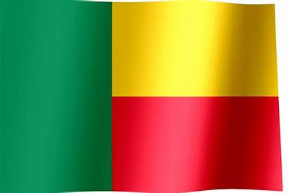 Benin Flag Waving Animated Flags Stripes Horizontal