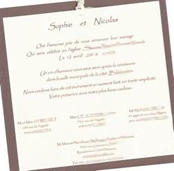 preparer un mariage modele faire part mariage religieux document