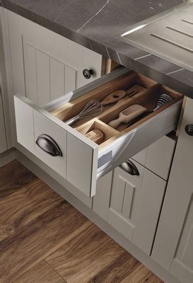 Burford Tongue & Groove Cashmere Kitchen Range   Howdens