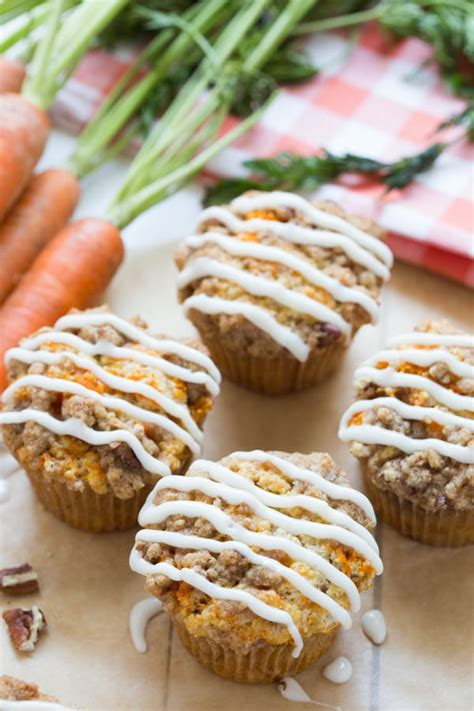 Carrot Coffee Cake Muffins   Spoonful of Flavor