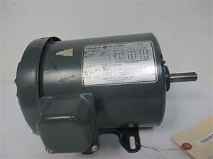 Ge 5k43mg5455 1 Hp Electric Motor 230  460v 3ph 1725 Rpm 5  8