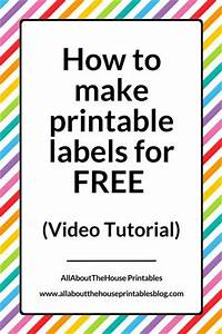 how to make printable labels for free using canva video With what kind of paint to use on kitchen cabinets for business sticker labels