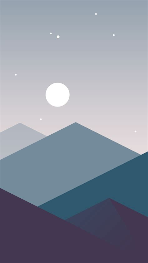 If you're looking for the best minimalist wallpaper then wallpapertag is the place to be. Minimalistic-Mountains-Night-Moon-iPhone-Wallpaper - iPhone Wallpapers