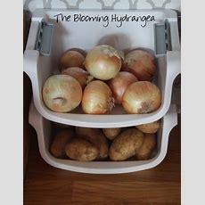 Onion And Potato Storage, Hobby Lobby Stencil, And Gray
