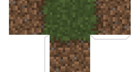 Minecraft Printable Grass Block Template