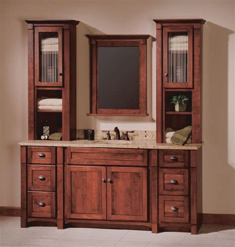 mission style bathroom mirror bathroom vanity with linen
