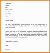 How To Write A Letter Application Scholarship 4 How To Write Scholarship Letter Quote Templates Scholarship Thank You Letter 10 Free Sample Example Scholarship Application Letter Applying For Education