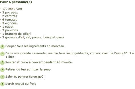 pr 233 paration de la soupe aux choux