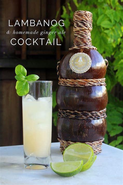 lambanog cocktail  homemade ginger ale homemade