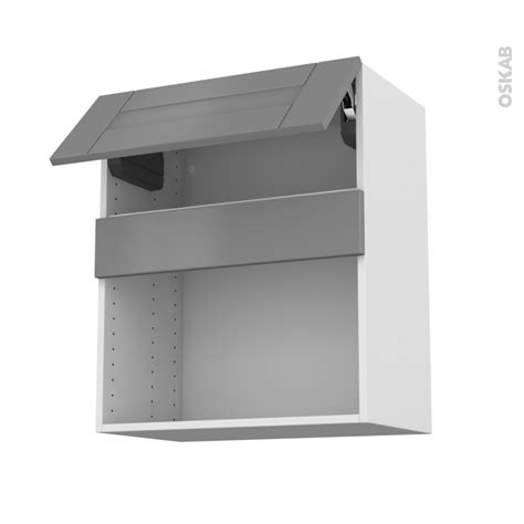 cuisine mo meuble de cuisine haut mo encastrable niche 38 filipen gris 1 abattant l60 x h70 x p37 cm oskab