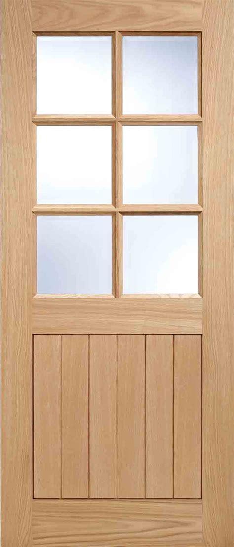 stratford  light glazed external oak door