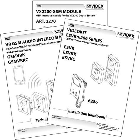 Manuals Videx Security