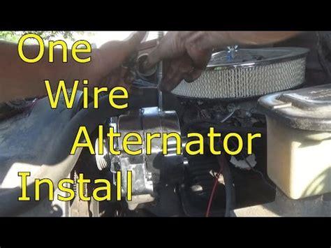 wire alternator install youtube