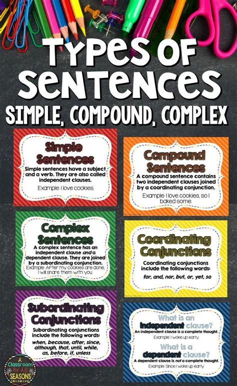Best 25+ Compound Complex Sentence Ideas On Pinterest  Simple Compound Complex Sentences