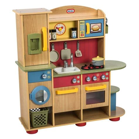 tikes cookin creations premium wood kitchen