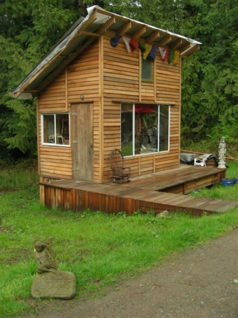 tiny cabin  deck  artist studio space tiny house pins