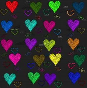 pretty hearts background | color #3 | Pinterest