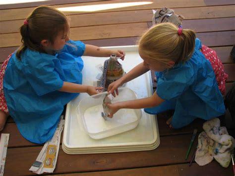 homemade volcano learning  kids