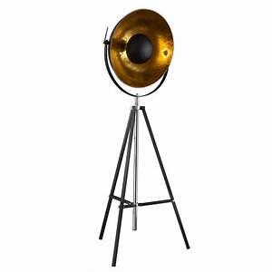 3 Bein Lampe : xirena stehleuchte 3 bein mit schirm halbrund 50 cm chrom schwarz stehlampe kaufen bei ~ Whattoseeinmadrid.com Haus und Dekorationen