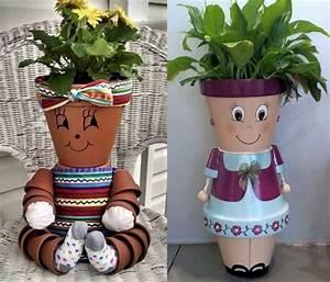 Creation Avec Des Pots De Fleurs : cr ations personnages en pots de fleurs page 2 ~ Melissatoandfro.com Idées de Décoration