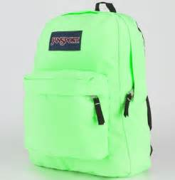 Neon Green Jansport Backpack