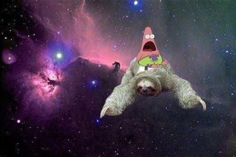 Patrick Riding Sloth Outer Space Star