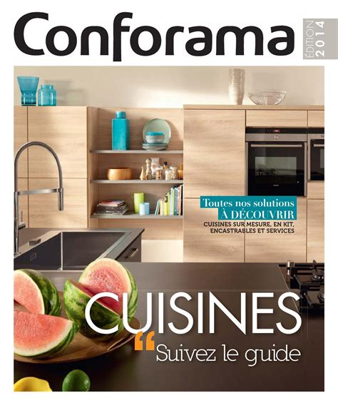 conforama cuisine sur mesure catalogue conforama guide cuisines 2014 by joe