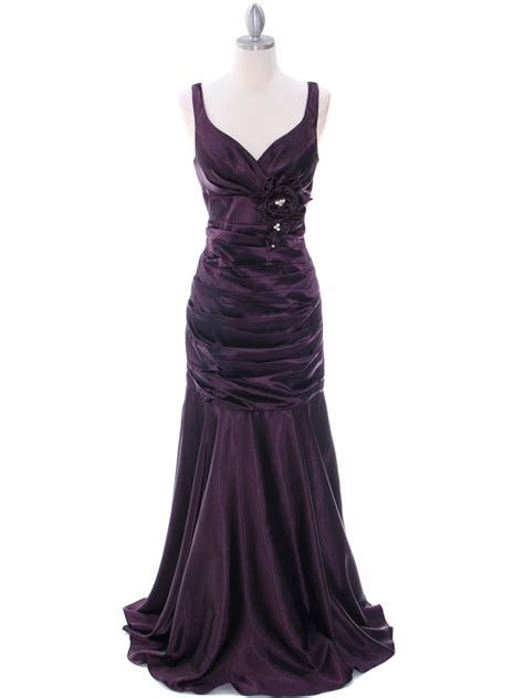 dark purple bridesmaid dress sung boutique la