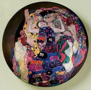 colorful ceramic plate showing gustav klimts  virgin