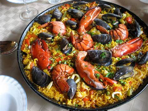 photo cuisine gourmet seafood paella recipe food recipes
