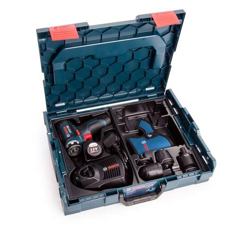 bosch gsr 12v 15 fc 12v flexiclick system drill driver with 4 chucks includes 2 x 2 0ah