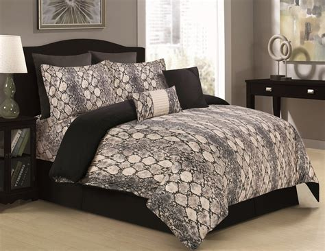 Tribeca Living Kenya 5-piece Cotton Snake Printed Duvet