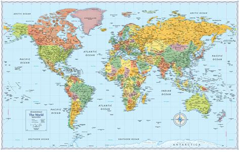 signature edition world wall maps rand mcnally store